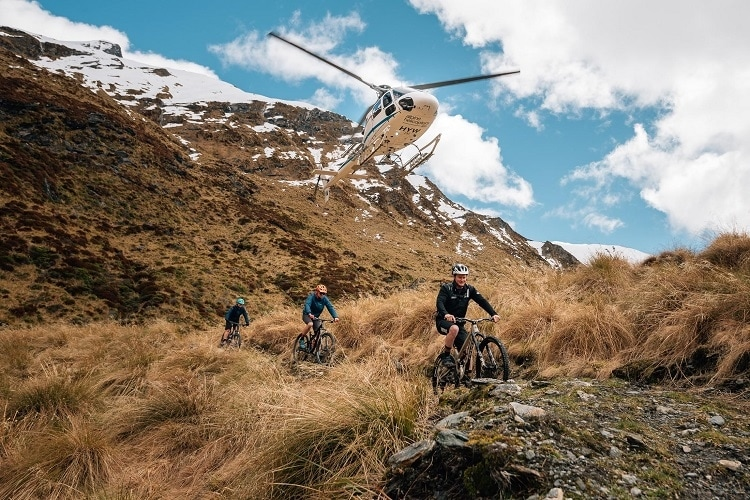 Mountain biking tracks in the south Island
